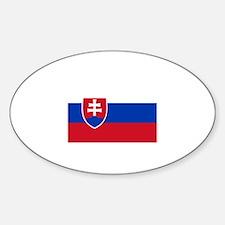 Bratislava, Slovakia Oval Decal
