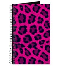 Cute Leopard pink Journal