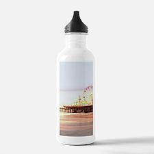 Cute Santa monica pier Water Bottle