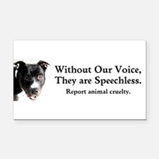 Without Our Voice Rectangle Car Magnet