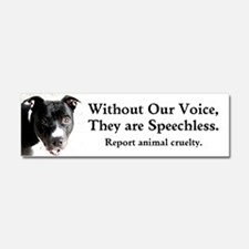 Without Our Voice Car Magnet 10 x 3