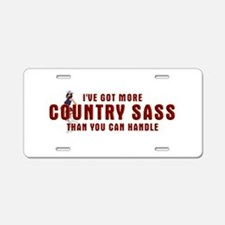 Country Sass Aluminum License Plate