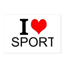 I Love Sports Postcards (Package of 8)