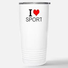 I Love Sports Travel Mug