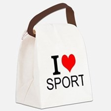 I Love Sports Canvas Lunch Bag