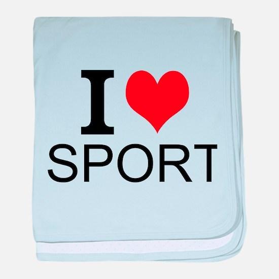 I Love Sports baby blanket