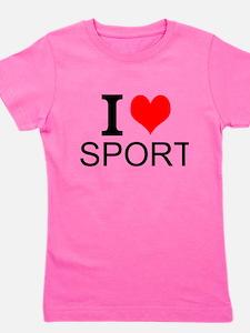I Love Sports Girl's Tee