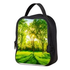 Green Forest Neoprene Lunch Bag