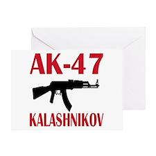 AK 47 Kalashnikov Greeting Card