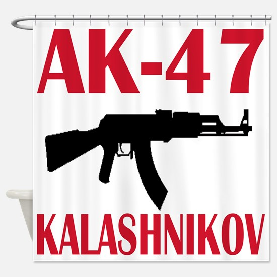 AK 47 Kalashnikov Shower Curtain
