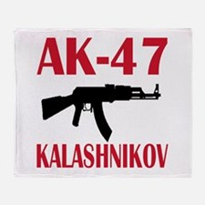 AK 47 Kalashnikov Throw Blanket
