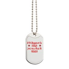 If it Happens in Vegas Dog Tags