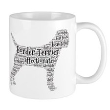 Border Terrier typography Mugs