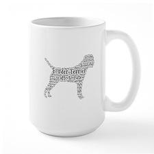 Border Terrier typography Mugs
