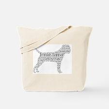 Cute Border terrier Tote Bag
