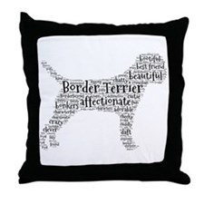 Cute Border terrier Throw Pillow
