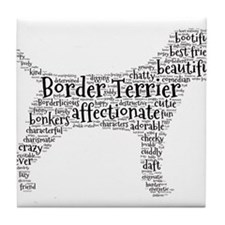Cute Border terrier Tile Coaster