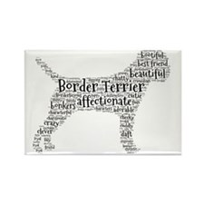 Border Terrier typography Magnets