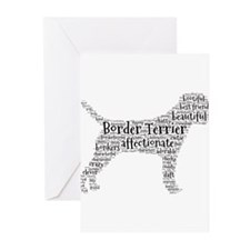 Border Terrier typography Greeting Cards