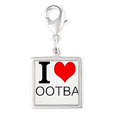 I Love Football Charms