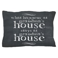 What Happens At Grandmas Chalkboard Pillow Case