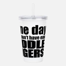 Middle Fingers Acrylic Double-wall Tumbler