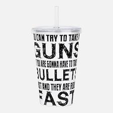 Fast Bullets Acrylic Double-wall Tumbler