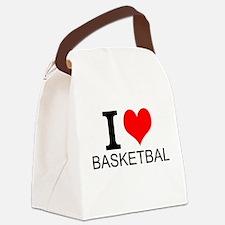 I Love Basketball Canvas Lunch Bag
