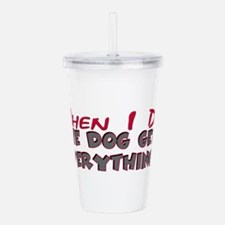 dogeverything.png Acrylic Double-wall Tumbler