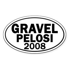 Gravel-Pelosi 2008 Oval Car Decal