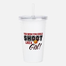shoot like a girl2.png Acrylic Double-wall Tumbler