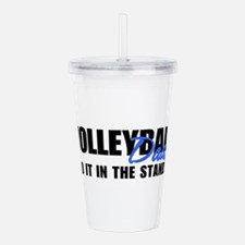 VOLLEYBALLdads2.png Acrylic Double-wall Tumbler