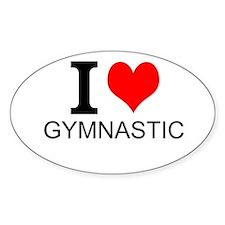 I Love Gymnastics Decal