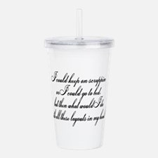 gotobed.png Acrylic Double-wall Tumbler