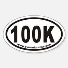 100k Www.evoendurance.com Oval Decal