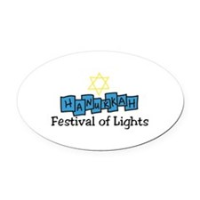 Festival Of Lights Oval Car Magnet