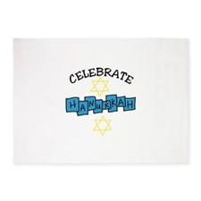 Celebrate Hanukkah 5'x7'Area Rug