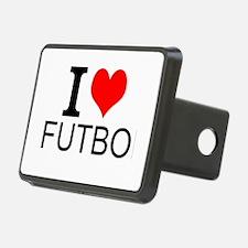 I Love Futbol Hitch Cover