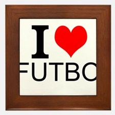 I Love Futbol Framed Tile
