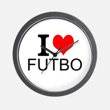 I Love Futbol Wall Clock