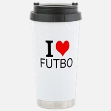I Love Futbol Travel Mug