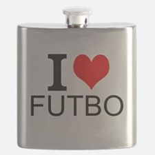 I Love Futbol Flask