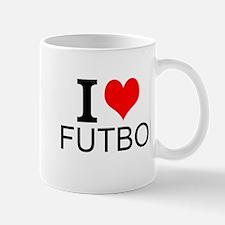 I Love Futbol Mugs