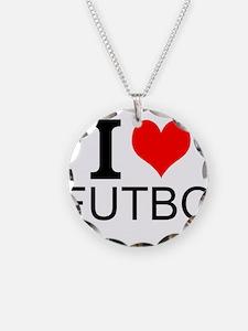 I Love Futbol Necklace