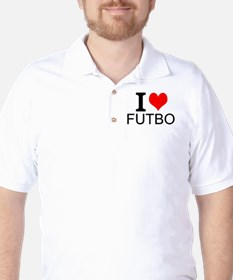 I Love Futbol Golf Shirt
