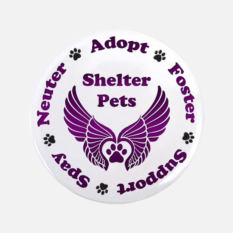 "Shelter Pets 3.5"" Button"