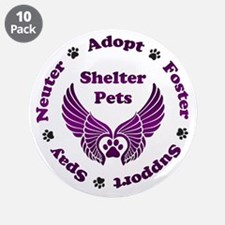 """Shelter Pets 3.5"""" Button (10 pack)"""