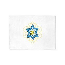 Star Of David 5'x7'Area Rug
