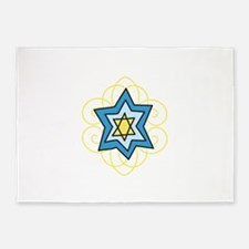 Star Of David 5'x7'Area Rug