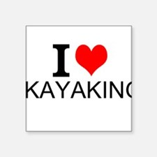 I Love Kayaking Sticker